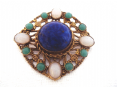Antique Jewelled Brooch in the Arts and Crafts style (SOLD)